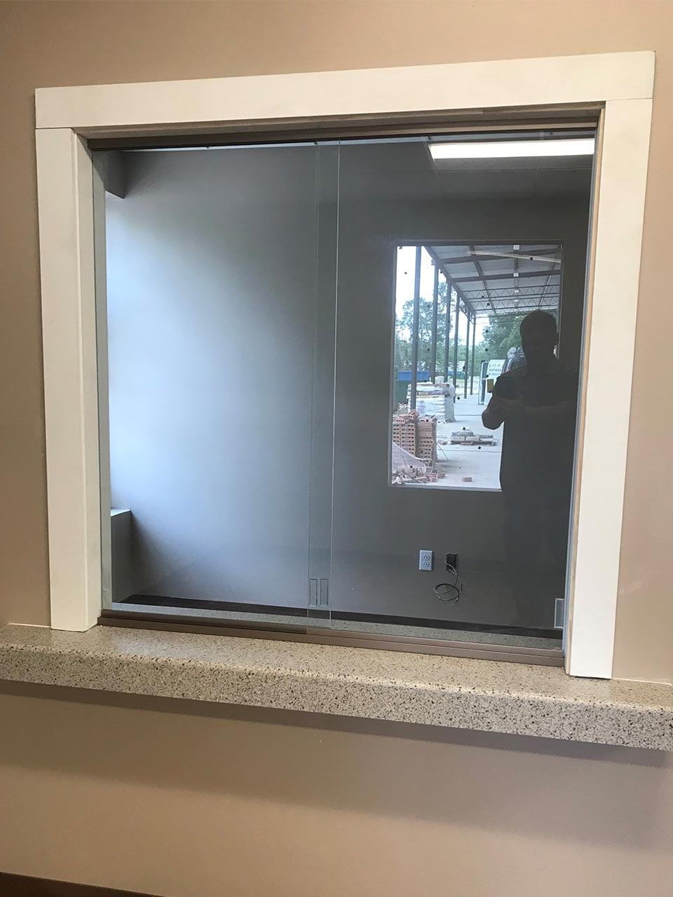 Sliding Reception Glass Window by Reliable Glass & Mirror
